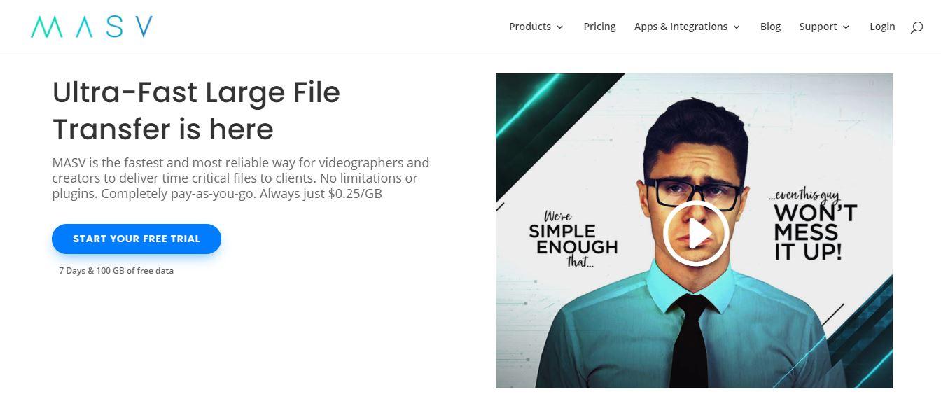 MASV Wire Google Drive online File sharing software
