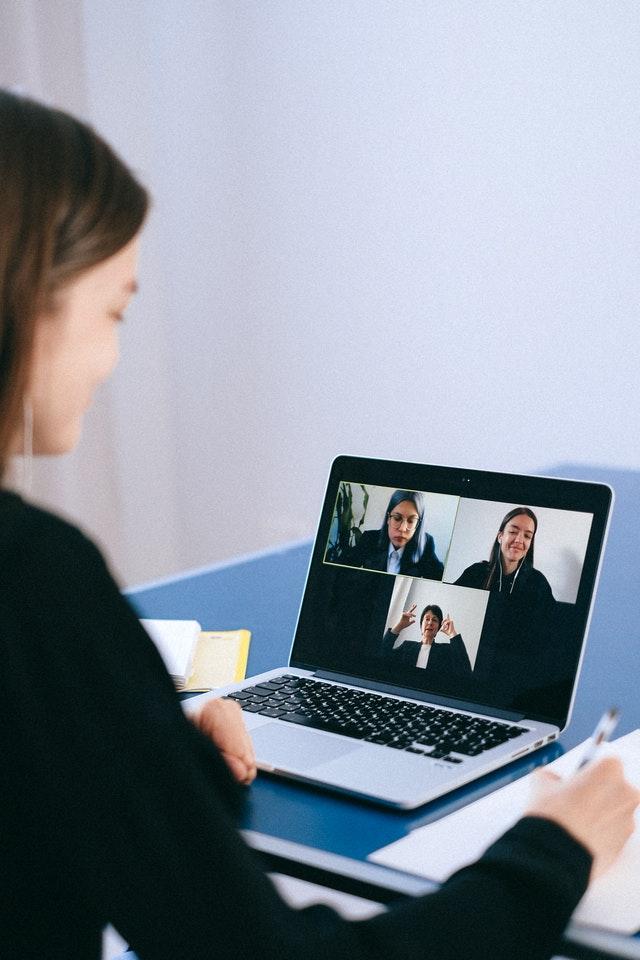 Google meet in a desktop